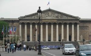 Vue sur l'Assemblée Nationale à Paris