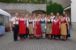 Soirée Bavaroise à Acholshausen, présentation de nos tenues.