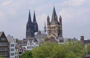 Vue sur la cathédrale de Cologne, le 8 mai 2013.