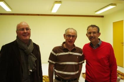 Accueil de Thierry SAINT, maire d'Eterville en présence de Georges LAIGNEL et Jan ARF