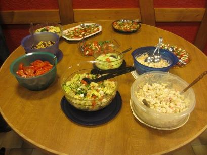 Diner à la maison des jeunes de Gaukönigshofen