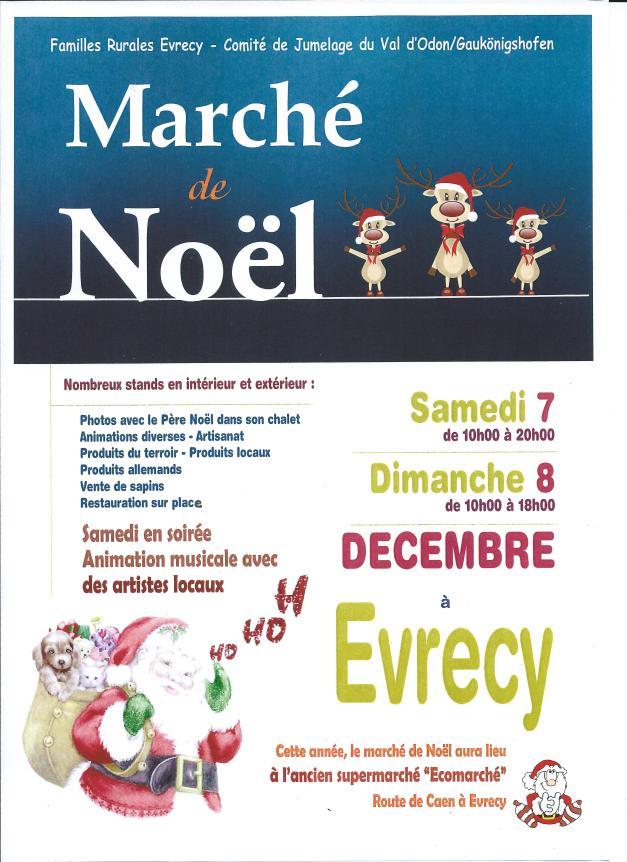 Pour la 17ème édition, venez nombreux au marché de Noël d'Evrecy les 7 et 8 décembre 2013 ! Le père Noël vous attend dans son chalet...