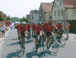 L'arrivée de nos cyclistes à Gaukönigshofen !