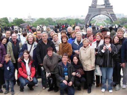 Une partie du groupe au Palais de Chaillot à Paris ! 2010