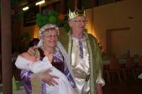 Le roi et la reine avec leur très jolie petite fille ! 2ème prix au concours des personnages costumés.