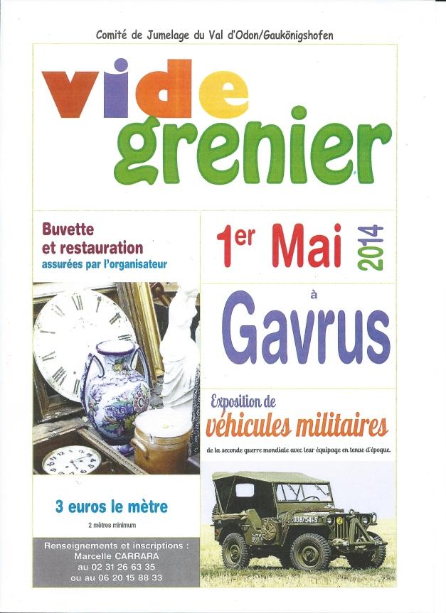 affiche Vide grenier