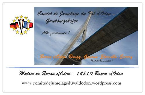 carte de visite Pont de normandie