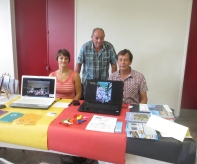Stand comité de jumelage du Val d'Odon à Evrecy