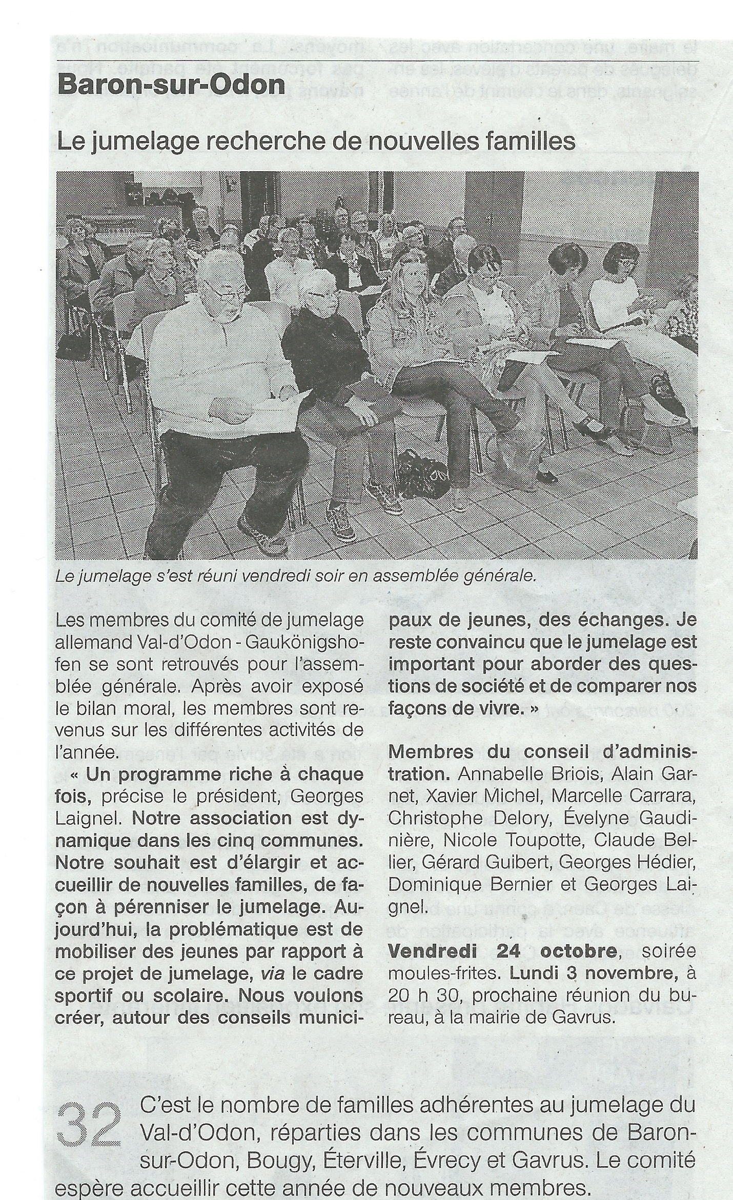 Article Ouest France paru le mercredi 22 octobre 2014.