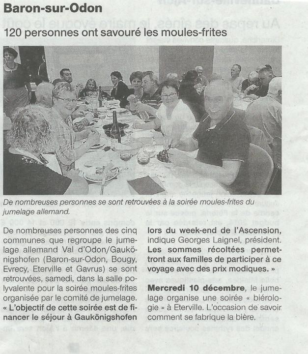 Article paru dans Ouest France mardi 28 octobre 2014.