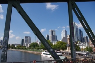 Vue sur les Grattes-ciel de Frankfurt depuis Eiserner Steg !