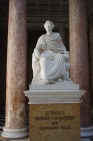 Temple initié par le roi Louis 1er de Bavière (1825-1848) Vom 1. König Louis(Ludwig) von Bayern ( 1825-1848 ) eingeführte Tempel