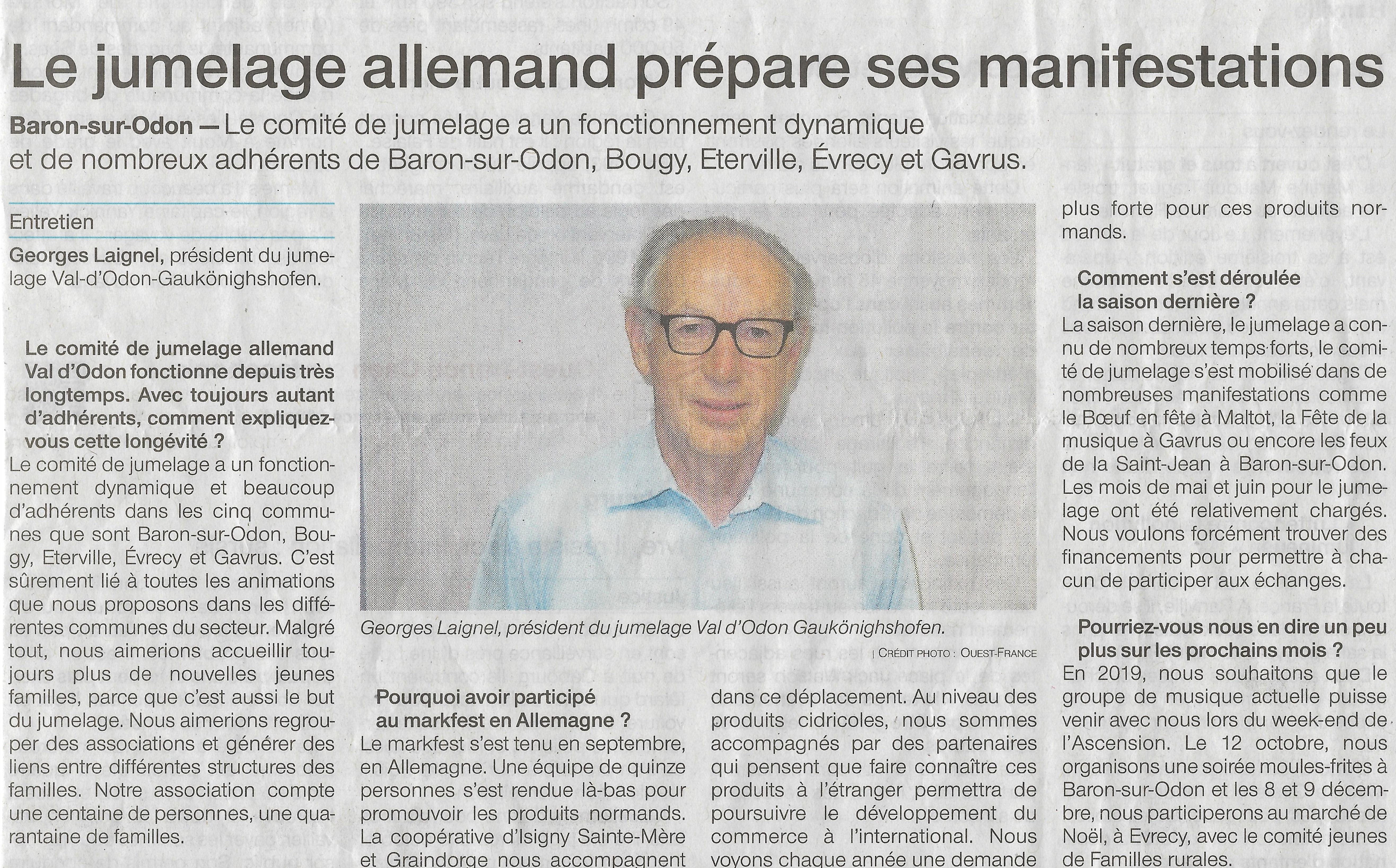 Interview de Ouest -France