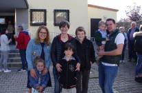 Nous sommes arrivés à Gaukönigshofen pour le petit-déjeuner en commun. Marie découvre sa nouvelle famille Stephanie et Andreas !